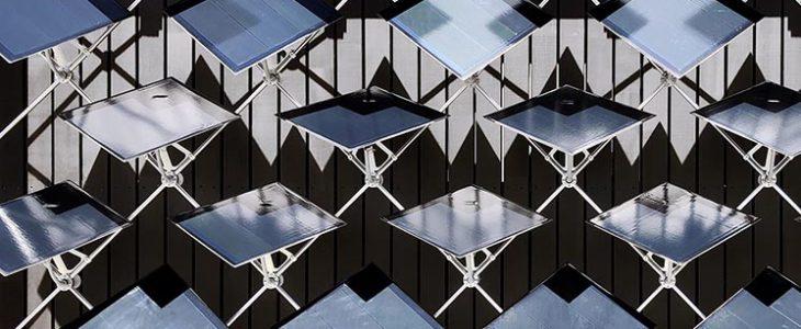 фасад рухомі сонячні панелі