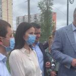 На Оболоні відкрили сквер і фонтан — Михайло Хорошевський